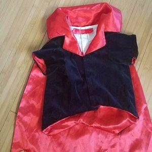 dracula velvet dog costume with detaching cape
